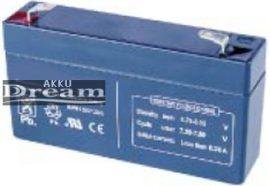 6V 1,3Ah Alarmguard CJ6-1.3 zárt gondozásmente zselés