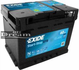 Exide Start Stop EFB EL600 60Ah 640A