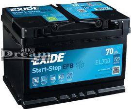 Exide Start Stop EFB EL700 70Ah 720A