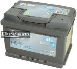 Exide Premium 61Ah 600A EA612