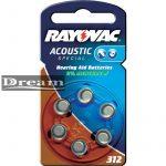 Elem hallókészülékbe Rayovac 312 (bliszter)