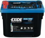 EXIDE DUAL EP450 12V 50Ah spirálcellás AGM bal+ (MAXXIMA 900DC)