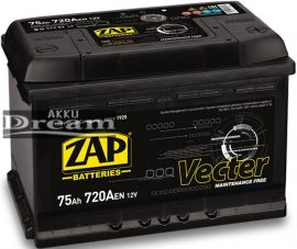 ZAP Vecter 12V 75Ah 720A J+ (175mm)