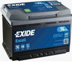 Exide Excell akkumulátor 12V 74Ah 680A J+ EB740