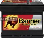 Banner Power Bull 12V 62Ah 550A Jobb+ P6219 (190mm)