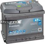 Exide Premium 47Ah 450A EA472 J+