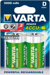 Elem akkumulátor D 3000mAh 2db Power Accu