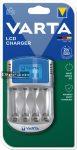 Elem akkumulátor töltő - LCD + 12V adapter + USB kábel