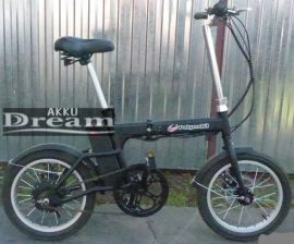 Polymobil POB-12 elektromos Camping kerékpár Fekete Litium