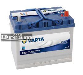 VARTA E23 Blue Dynamic 12V 70Ah EN 630A J+ Ázsia (570 412 063)