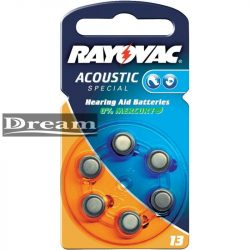 Elem hallókészülékbe Rayovac 13 (bliszter)