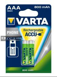 Elem akkumulátor T398 AAA 800 mAh Phone 2db