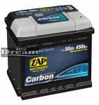 ZAP Graphite Carbon EFB Autó Akkumulátor 12V 50Ah 450A Jobb+