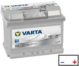 Varta Silver Dynamic akkumulátor 12V 52Ah 520A J+