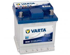 VARTA Blue Dynamic Autó Akkumulátor B36 12V 44Ah 420A PUNTO Jobb+ (544401042)