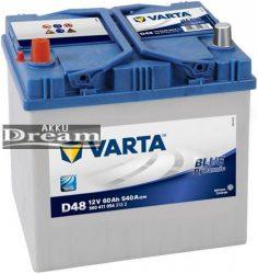 VARTA D48 Blue Dynamic 12V 60Ah 540A B+ Ázsia (560 411 054) LACETTI