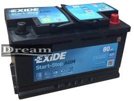 Exide Start Stop Micro Hybrid EK800 80Ah 800A / AGM