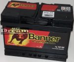 Banner Starting Bull 12V 72Ah 650A jobb+ (190mm)