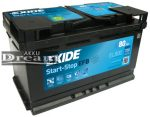 Exide 12V 80Ah 720A Start-Stop akkumulátor EFB J+ EL800