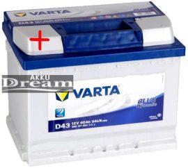 VARTA D43 Blue Dynamic 12v 60Ah 540A B+ (560 127 054)