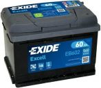 Exide Excell 60Ah 540A EB602 J+