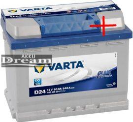 Varta Blue Dynamic 60Ah 540A J+ / 190 mm magas