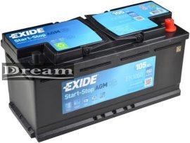 Exide AGM 12V 105Ah Start-Stop J+ EK1050