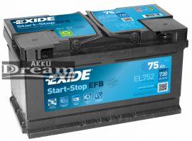 Exide Start Stop EFB EL752 75Ah 730A (FORD)