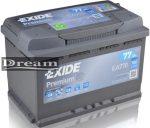 Exide Premium 77Ah 760A EA770 J+