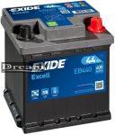 Exide Excell 12V 44Ah 400A J+ EB440
