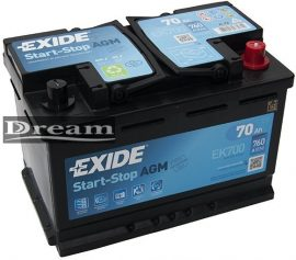 Exide Start Stop Micro Hybrid EK700 70Ah 760A / AGM