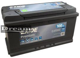 Exide Premium EA1000 100Ah 900A J+