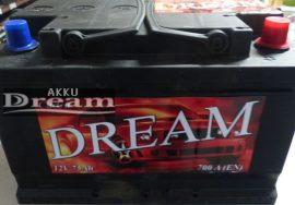 DREAM 12V 75Ah 700A J+ (175mm)