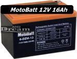 MotoBatt 12V 16Ah Elektromos kerékpár, roller akku